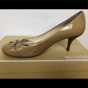 Michael Kors Fulton Nude Patent Leather Pump 7.5